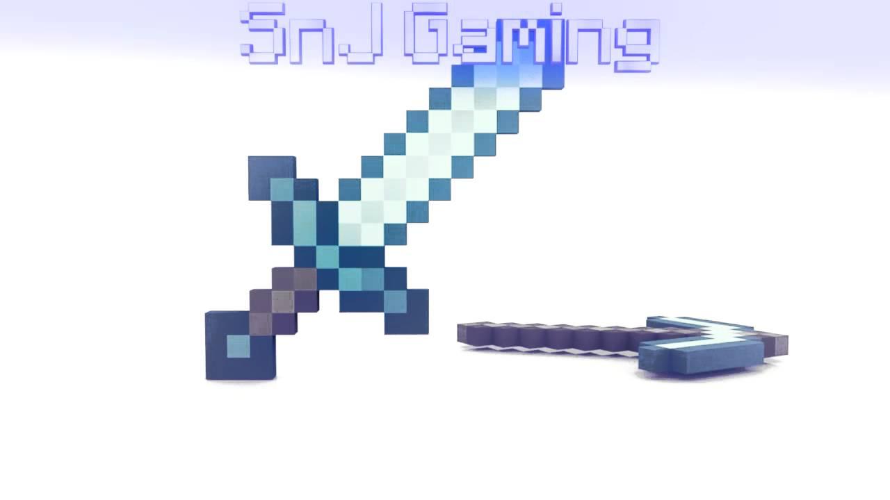 Minecraft Diamond Pickaxe And Sword Crossed Diamond Sword Pickaxe