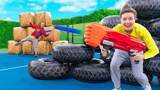 WORLDS BIGGEST NERF BATTLE  ROYALE CHALLENGE in REAL LIFE (WINNER GETS $10,000)