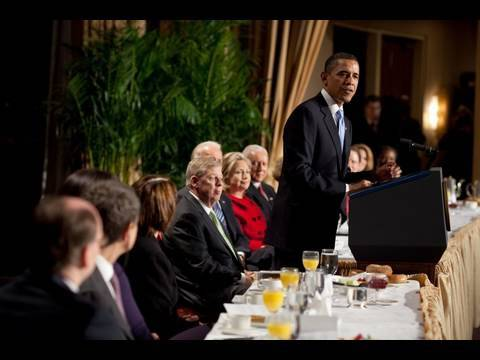 President Obama at the 2010 National Prayer Breakfast