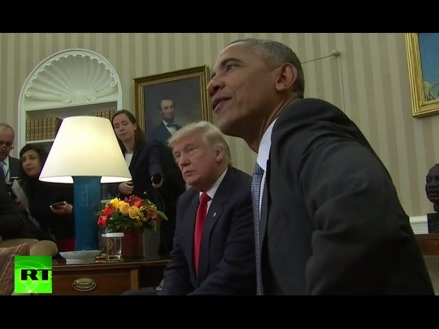 RAW: Obama welcomes president-elect Trump at White House