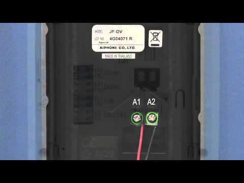 aiphone jf series wiring instruction guide youtube