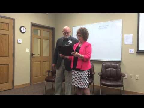 Incubator receives grant, plaque