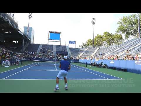Andy Roddick / Somdev Devvarman 2013 Last Warmup Before Retirement 2012 9 / 10