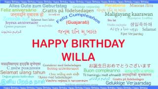 Willa   Languages Idiomas - Happy Birthday