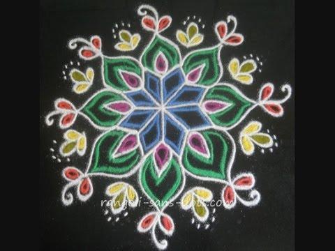 Sankranthi Muggulu designs - 1 - YouTube