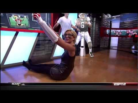 Charissa Thompson Leather and Black Tights 09 13 12 HD thumbnail