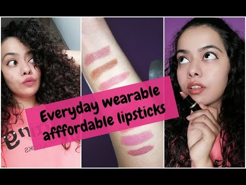 Amazing Budget friendly lipsticks for EVERYDAY WEAR | Suits Indian skin tones