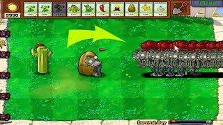 Plants vs Zombies Hack - Gatling Pea Cactus vs 99999 Balloon Zombie