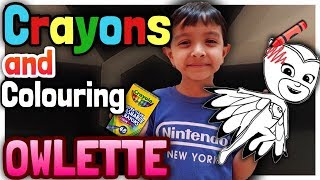 Coloring OWLETTE with crayons | 48 Crayola Crayons