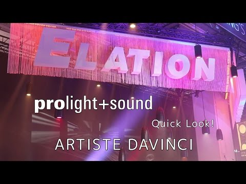 Elation Professional - Quick Look! Artiste DaVinci