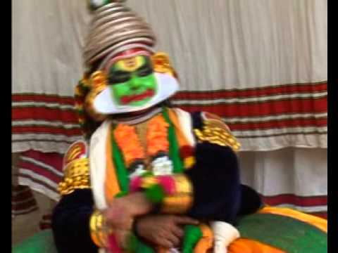 Guru Chemanjeri Kunchiraman Nair Performing As Krishna In Kuchela Vrutham Kadhakali video