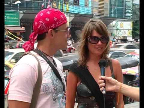 Bangkok Tourist Interview on April 21,2009