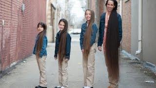 පුදුම කොන්ඩ ටිකක් තමයි ....මෙහෙම පවුලක් දැකලා තියනවද ....? The Rapunzel Family