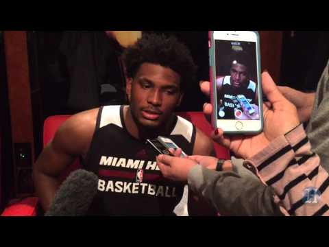 Miami Heat's Justise Winslow discusses guarding the Indiana Pacers' Paul George