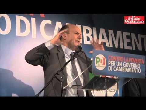 """Manifestazione Pd contro la povertà. Bersani: """"No a governissimo. non è la soluzione alla malattia"""