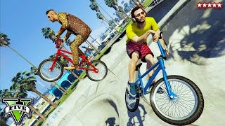 GTA 5 Let's Play HORSE!! BMX Stunts Montage with The Stream Team (GTA 5 Funny Moments)