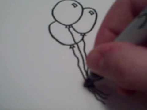 Balloon Seller Drawing How to Draw Cartoon Balloons