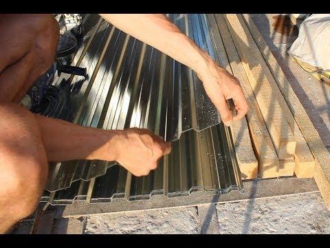 Кроем крышу гаража профнастилом своими руками