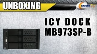 NeweggTV: ICY DOCK MB973SP-B Tray-less 3 in 2 SATA I & II Internal Raid Backplane Unboxing