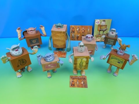 2014 THE BOXTROLLS SET OF 8 McDONALD'S HAPPY MEAL MOVIE TOY'S VIDEO REVIEW