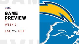 Los Angeles Chargers vs. Detroit Lions Week 2 NFL Game Preview