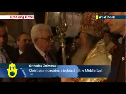 Christmas in Bethlehem: Palestinian leader Abbas joins Orthodox Christians at holiday mass