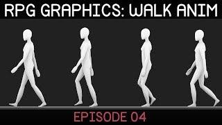 RPG graphics E04: Walk animation [Blender]