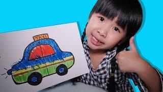 Bé Bún Tô Màu Đồ Chơi Trang Điểm ( Coloring make up toys ) – Bé Bắp Tô Màu Ô Tô ( Coloring a Car )