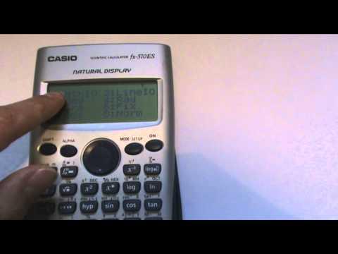 Resultados en fracciones o decimales calculadora Casio fx-570 ES