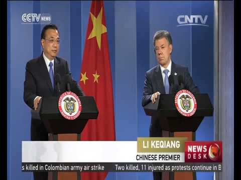 Li Keqiang visits Colombia, boosting economic ties