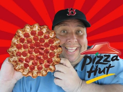 PIZZA HUT'S Crazy Cheesy Crust Pizza REVIEWED!