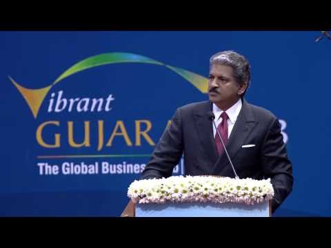 Anand mahindra speech during inauguration of Vibrant Gujrarat summit 2013