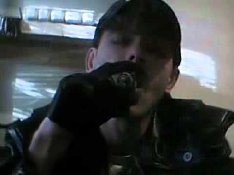 Leather Gloves: Lou Evans Smoking In Leather Gloves