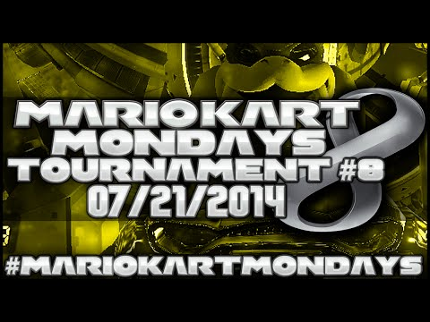 Mario Kart 8 Weekly Tournament S1E08 ft. SuperGirlKels #MarioKartMondays 7 21 14