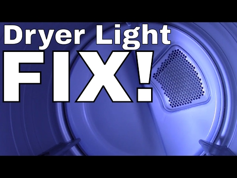 Change the Bulb in Clothes Dryer --  (LG. GE. KENMORE. SAMSUNG. WHIRLPOOL)