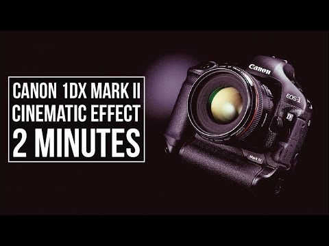 CINEMATIC setting for CANON 1D X MARK II in 2 MINUTES  (C-LOG)