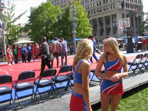 CHEERLEADERS OF THE DETROIT PISTONS AT THE  MEET AND GREET DOWNTOWN DETROIT 2014