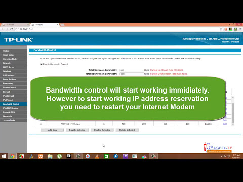 How to control Bandwidth on a DSL Broadband Modem