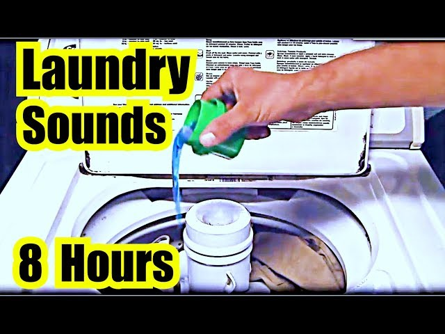 Washing Maching Sound ~ Relaxing Rhythm ~ 8 Hours ~ Machine Sleep ~ White Noise