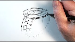 Yo! C77 Sketch: Drawing a Watch in Perspective
