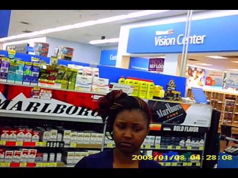 Walmart Your Staff Here Your Looking At A Debit Card Thief. video