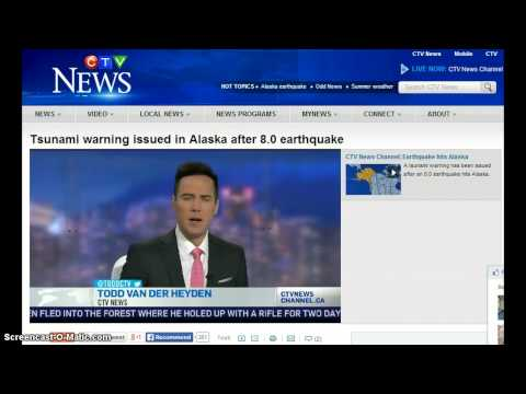 8.0 Earthquake Alaska! Tsunami Warnings! Ring Of Fire!