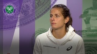 Julia Goerges leaving Wimbledon with