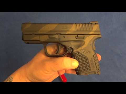Springfield XDs with Green Fiber Optic Front Sight & Custom Cerakote