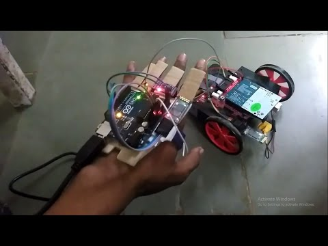 WIRELESS CONTROLLED BASED GESTURED ROBOT USING
