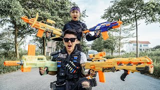 LTT Nerf War : Couple SEAL X Warriors Nerf Guns Fight Dr.Lee Crazy track Down Wanted