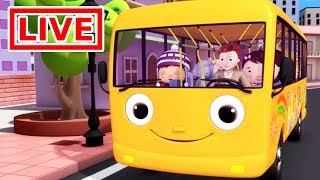 Little Baby Bum - Live 🔴| Wheels On The Bus | Nursery Rhymes for Babies | ABC Songs Live Stream