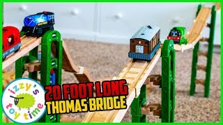 MEGA Thomas and Friends Bridge using SURETRACK CLIPS! Fun Toy Trains for Kids