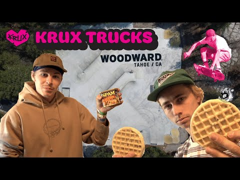 Krux Trucks: Aaron Goure and Travis Harrison Flip Out at Woodward Tahoe