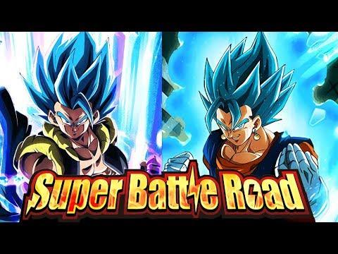 LR VEGITO BLUE & LR GOGETA BLUE VS SUPER BATTLE ROAD! Dragon Ball Z Dokkan Battle
